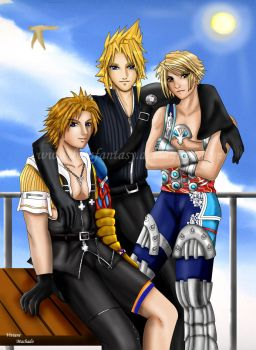 The triplets of final fantasy by belafantasy