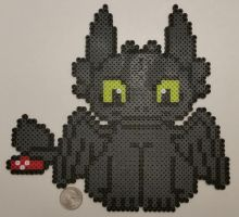 Toothless Perler by jrfromdallas
