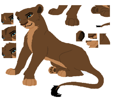 Standard Lioness base by MerlynsMidnight