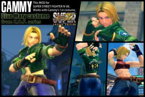 SSF4AE Cammy - Blue Mary costume MOD by dsFOREST