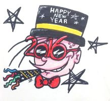 Happy New Year Doodle by Violet-Daze
