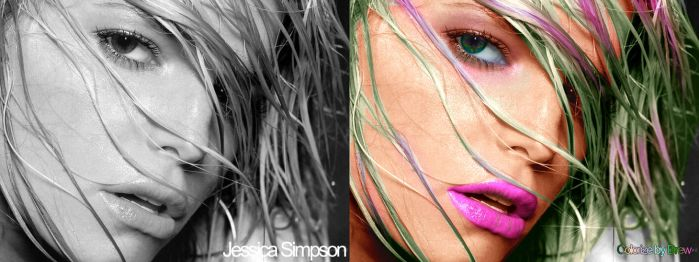 Jessica Simpson Colorization by the2slayers