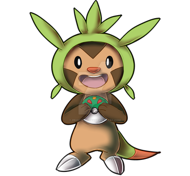 PKMN STICKERS: Chespin by PridePenguins