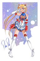 Super Sailor Moon - New Outfit design by daadia