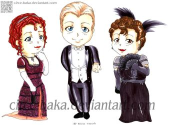 Rose, Jack and Molly Chibis :Titanic: by LauNachtyr