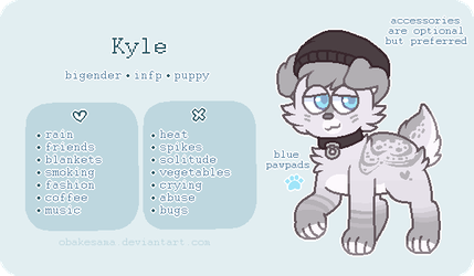 Kyle - Reference Sheet by obakesama