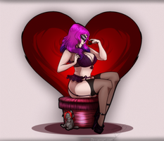 Pinup Bur Valentine Commission by DJ88