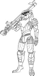 Garrus Vakarian final lines for a cover project by animemagix