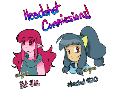 [OPEN COMMISSIONS - READ DESC.] Headshots Comm. by CallMeDrawdrey