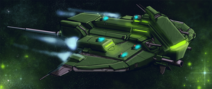 Hray Class Stealth Gunship by Dehzinn