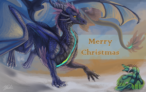 Christmas card 2017 by Leundra