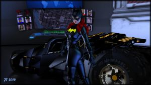 Batgirl alone in the Batcave by tiangtam