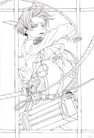 Attack on Titan - Levi - outlines by Miu-koru