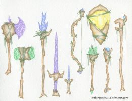 Crystal Weapons by zbenjamin27