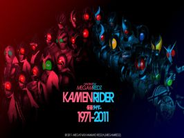 KamenRider 1971-2011 Wallpaper by MeGaMRedZ