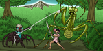Mantis Fight by ProdigyDuck