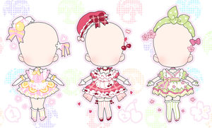 refreshing fruits party | outfit adopts SALE by Hacuubii