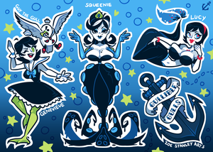 Gullible Gulls Sticker Sheet by ZoeStanleyArts