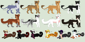 Free Adoptables batch 92 (Closed) by Kitty-of-Doom524