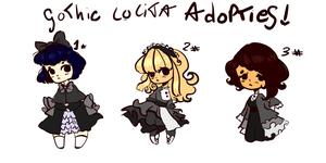 Gothic Lolita Adopts - Price lowered!{OPEN 3/3} by Choco-Chann