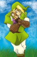 Link and Zelda_^3^_2 by Iwama-chan