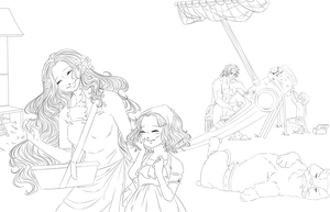 One Piece OC. Piortgas D. Family. by HatoChan19