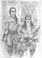 Silmarillion - Feanor and Finwe by IngvildSchageArt