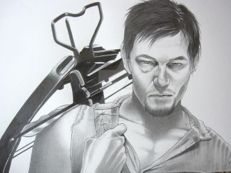 Daryl from the The Walking Dead by corysmithart