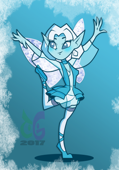 commission Neige the snow Fairy by toongrowner