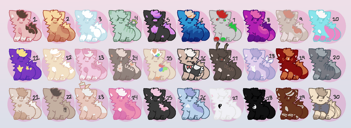 Cat Adopts [CLOSED TY] [15 PTS] by alliemews