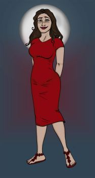 Lady in red by FullMoonMaster