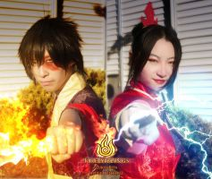 ATLA_Fire Siblings cosplay_ Supernova 2012 by kelly1412