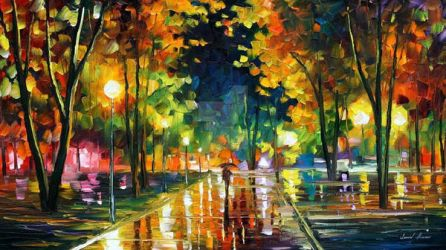Late Night by Leonid Afremov by Leonidafremov