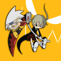 chibi Soul and Maka by SonicHearts