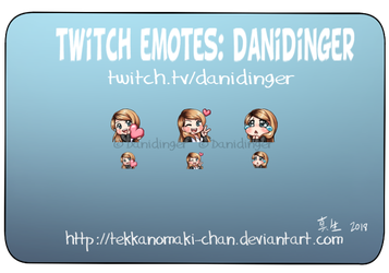 Commission: Twitch emote for Danidinger by TekkanoMaki-chan
