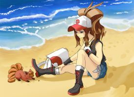 pkmn beach print by Limited-Access