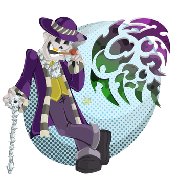 Skeleton Pimp by hooksnfangs