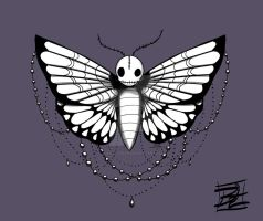 Skull Moth by biancaloran