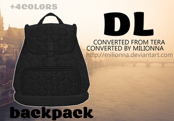MMD TERA Backpack [DL] [DOWNLOAD] by Milionna