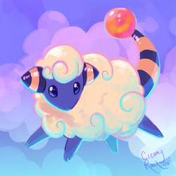 Pokedoodles: Mareep by JoelletheNose
