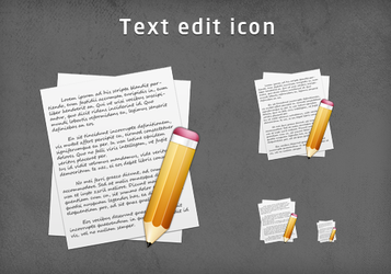 Text edit icon by emey87