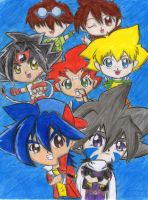 Beyblade 10th anniversary by nightogurl90