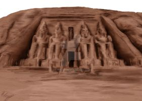 Commision: Abu Simbel by CiLiNDr0