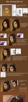 Hair painting tutorial by Dianae