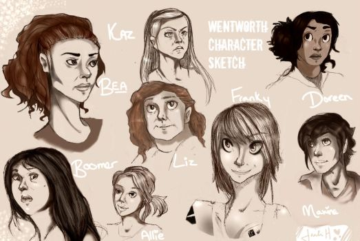 Wentworth Character doodle by ForgetMorals