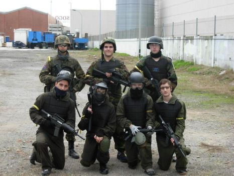 My airsoft team by DragonsHearts