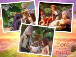 KH- Sora,Riku And Kairi by EmotionalDisaster666