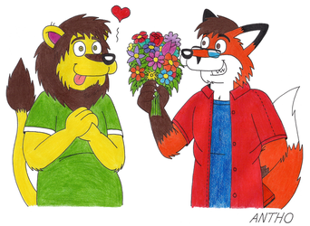 Birthday surprise for Jack Bearlion! by AnthoFur