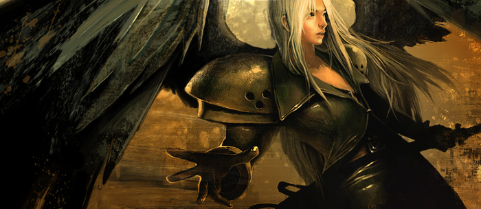 SEPHIROTH _ Icarus' wings by RainChilD18