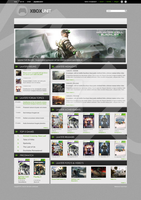 Gaming website design WIP by BroodjeKipkorn